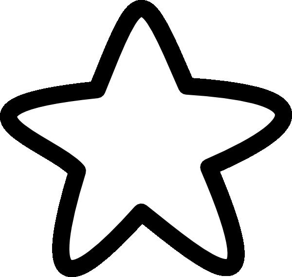 600x570 Black And White Star Clip Art