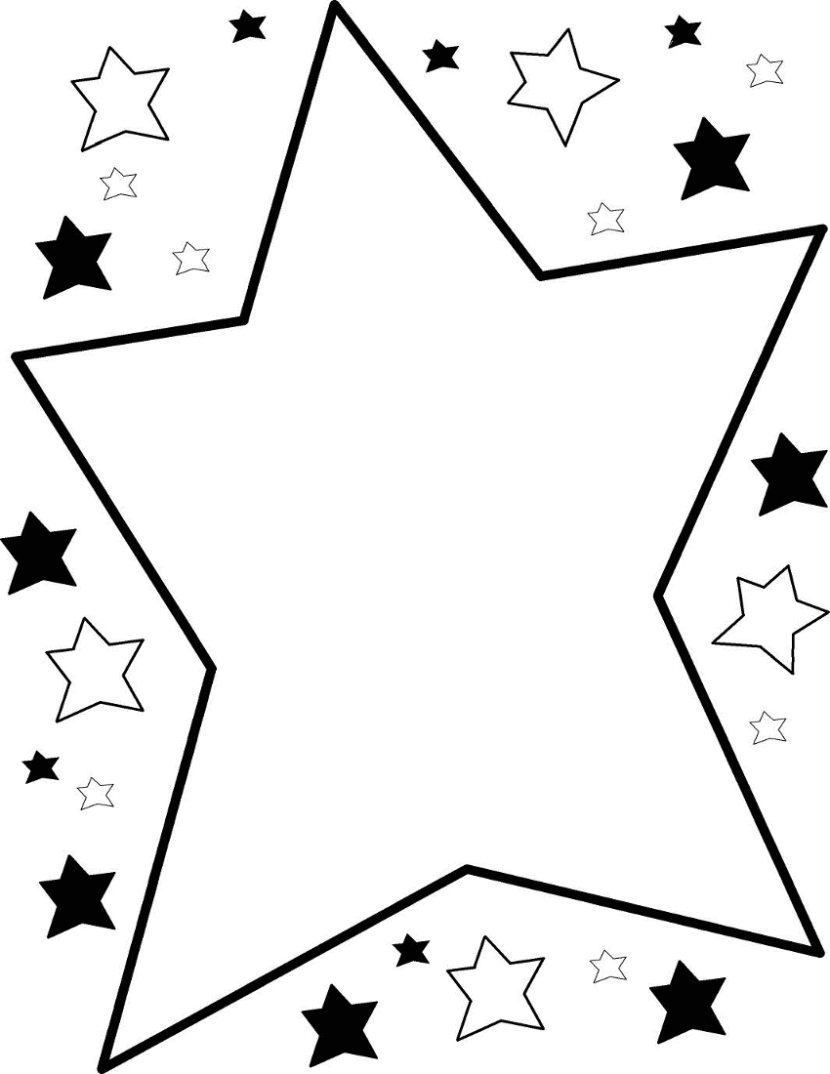 830x1074 Star Black And White Happy Stars Clipart Black And White Clip Art