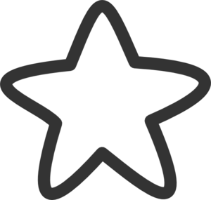 300x285 Black And White Star Clip Art