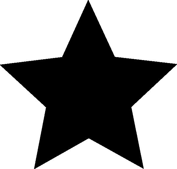 600x571 Black Star Clip Art