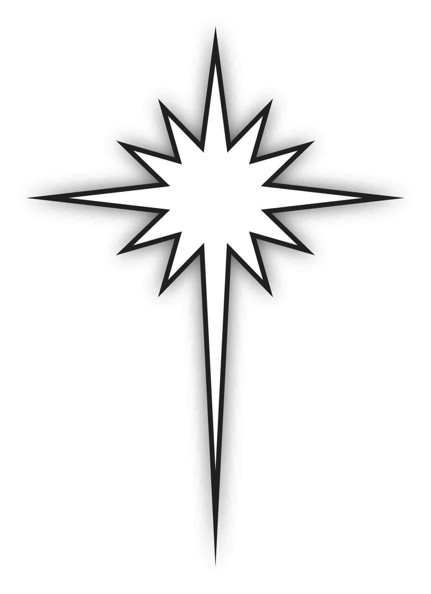 1460x2015 Christmas Star Black And White Clipart Pa Free Clip Art Free