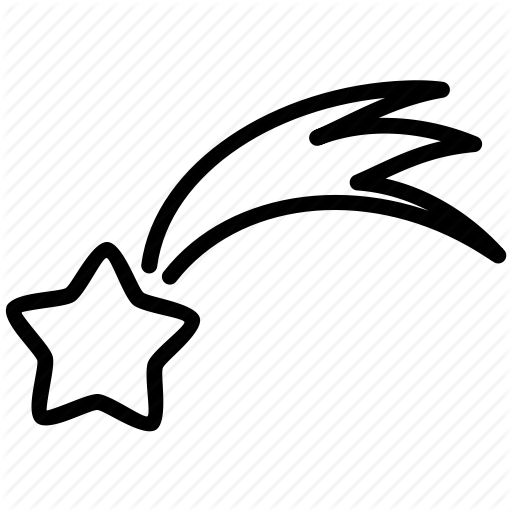 512x512 Best Shooting Star Clipart Ideas Star Outline