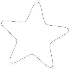 297x298 Star Black And White Clipart