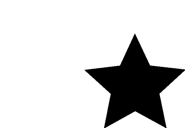 600x416 Star Black Clip Art