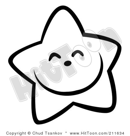 450x470 Star Clip Art Outline Black And White Clipart Panda