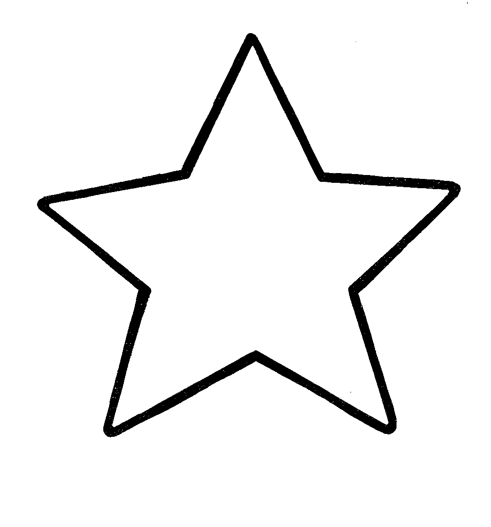 1008x1081 Black And White Star Clip Art