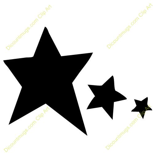 500x500 Stars Clipart Solid Black