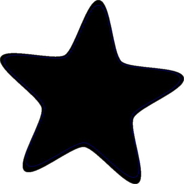 594x595 Black Clip Art Star Clip Art