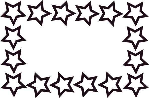 600x397 Star Border Clip Art Download