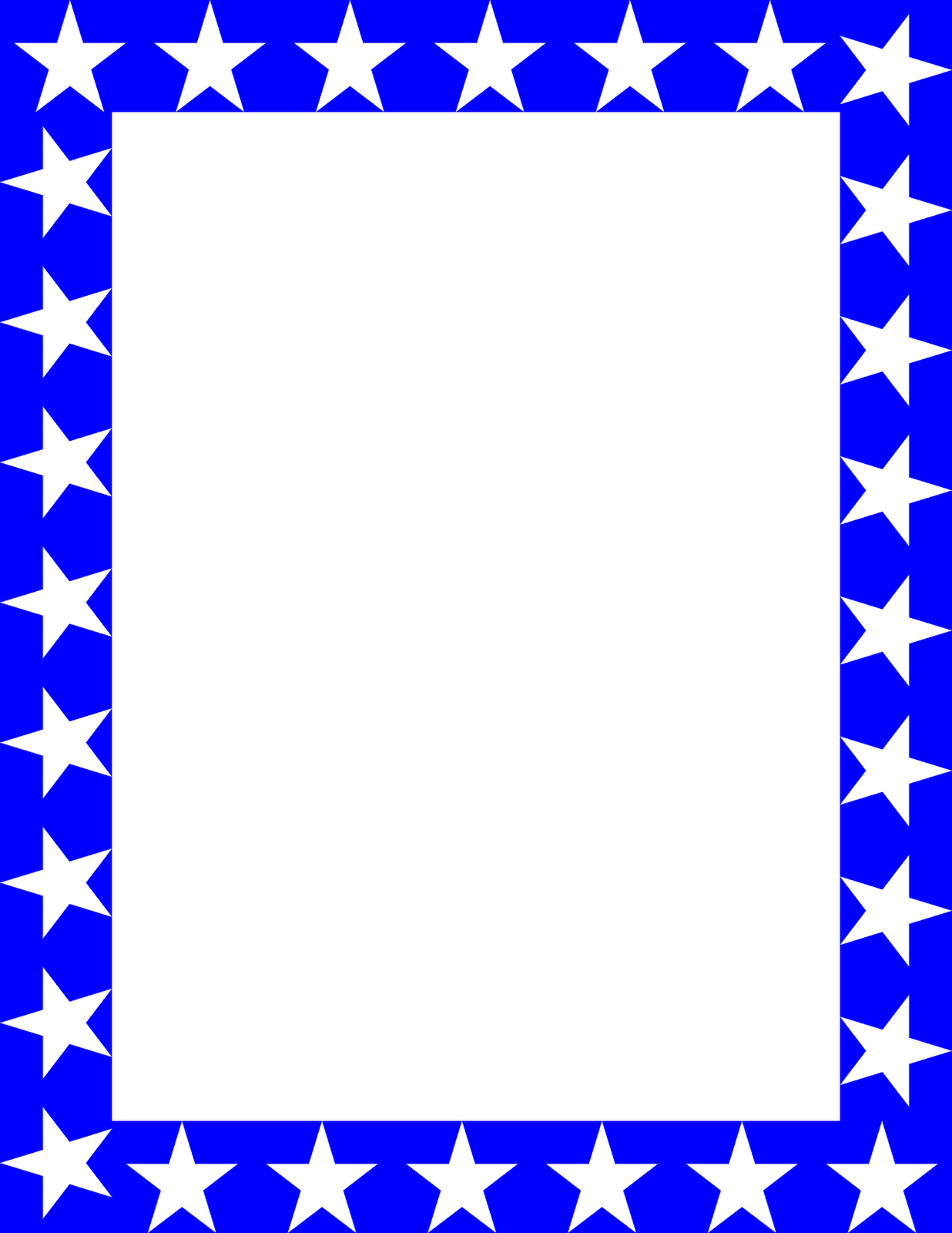 1236x1600 Best Star Border Clipart