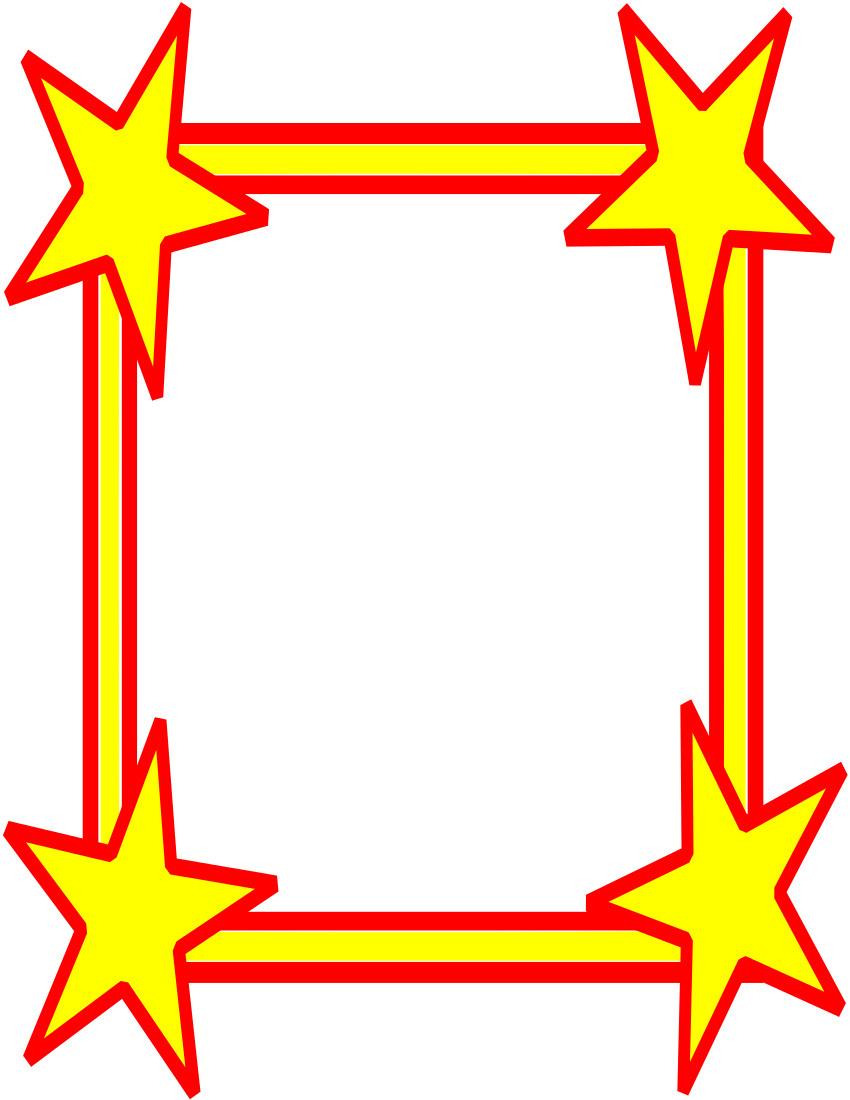 850x1100 Superhero Border Clipart