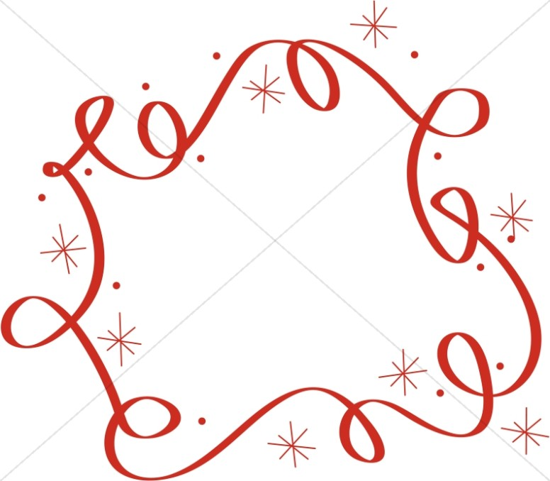 776x678 Swirls And Stars Border Religious Christmas Clipart