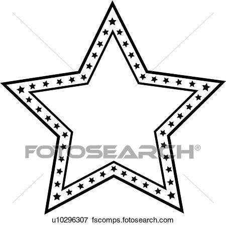 450x449 Clip Art Of , Blank, Border, Fancy, Frame, Sign, Star, U10296307