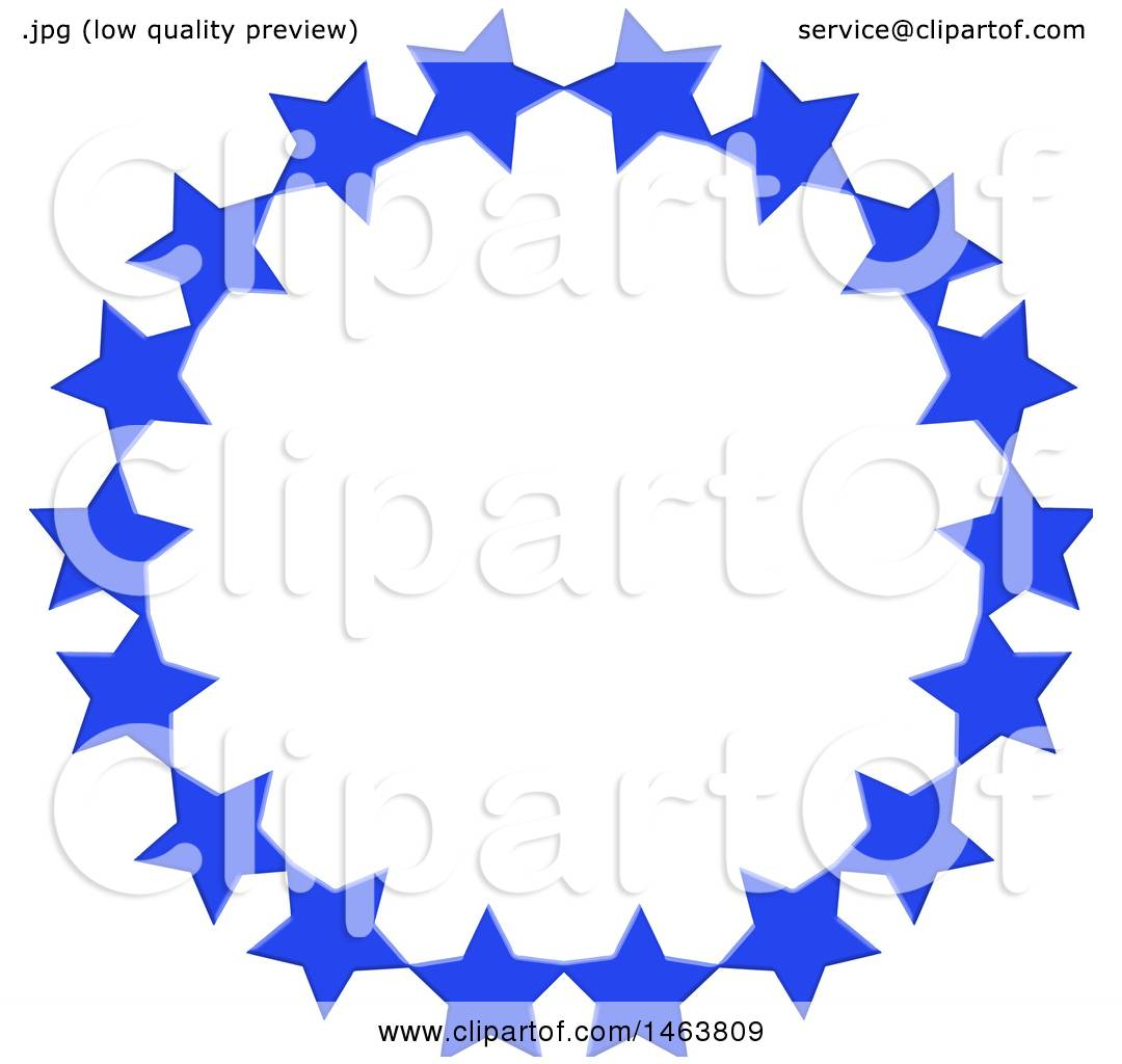 1080x1024 Clipart Of A Round Blue Star Circle Frame Border Design Element