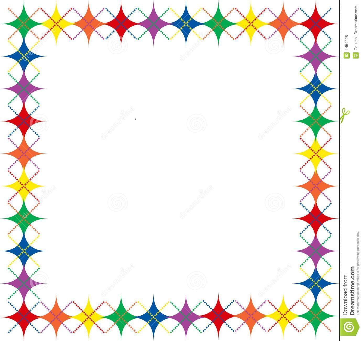 1385x1300 Colorful Star Borders Clipart
