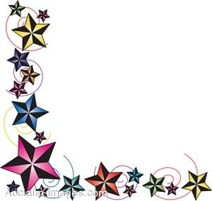 300x285 Colorful Star Borders Clipart