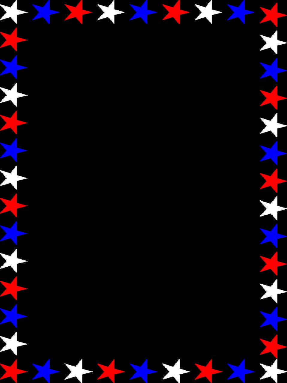 958x1277 Free Stars Clipart Border Image