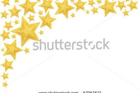 450x300 Gold Stars Clip Art Frame
