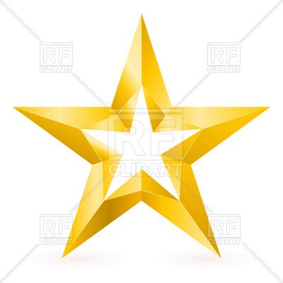 400x400 Golden Star Border Royalty Free Vector Clip Art Image