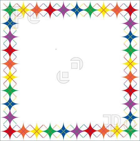448x449 Border Clipart Star