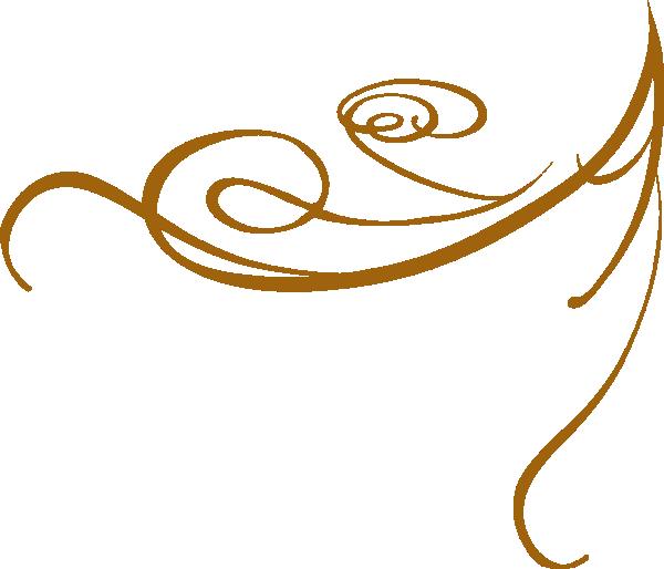 600x514 Decorative Swirl Gold Clip Art