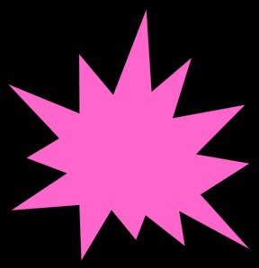 288x298 Pink Star Burst Clip Art