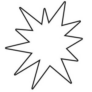 300x300 Starburst Clip Art Outline Free Clipart Images 7