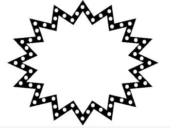 350x266 Starburst Clipart Black And White Free