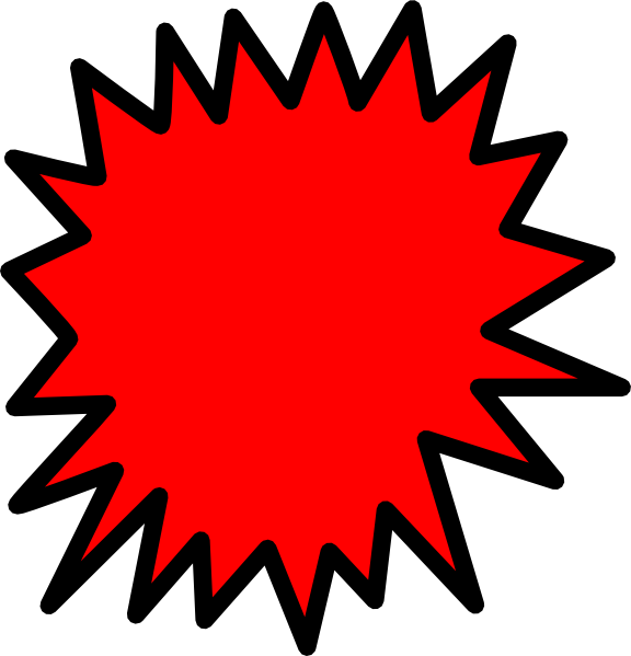 576x599 Cliparts Red Starburst Clipart Kid 6