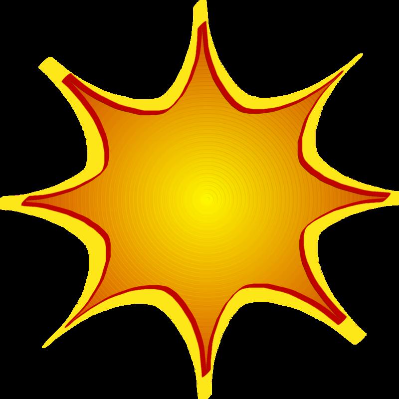 800x800 Yellow Starburst Clipart