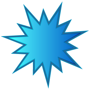 300x300 Blue Starburst Clipart Kid 2