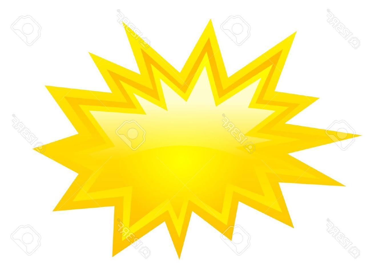 1300x974 Best Yellow Bursting Icon Vector Clip Art Stock Star Starburst