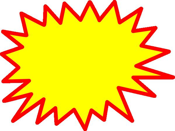 600x450 Yellow Red Starburst Clipart