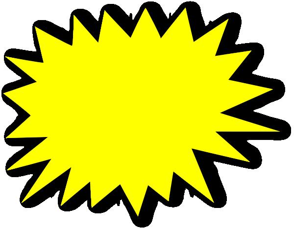 600x468 Yellow Starburst Clipart