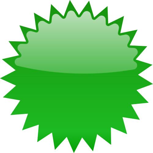 500x500 Star Burst Blank Green