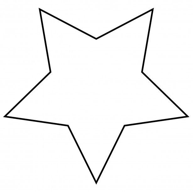 615x613 Star Outline Clipart