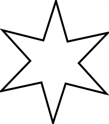 374x425 Star Clip Art Outline Free Clipart Images 7