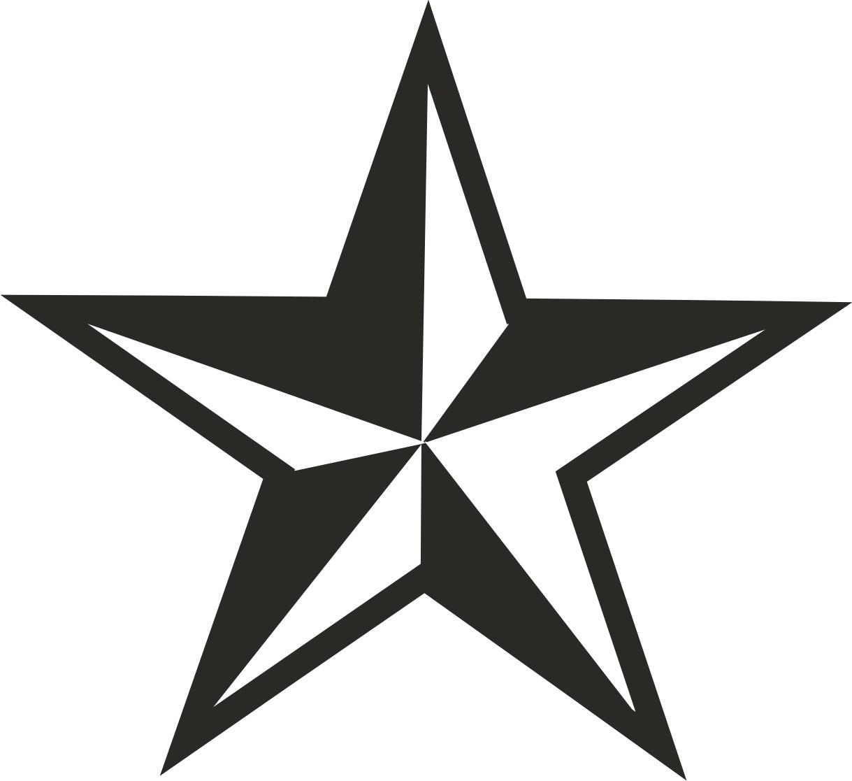 1219x1117 White Black Star Clipart