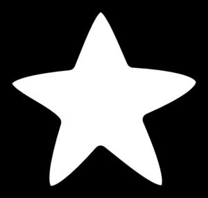 300x285 White Star Clip Art