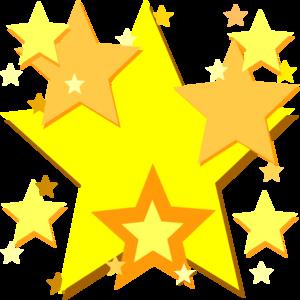 300x300 Yellow Stars Clip Art
