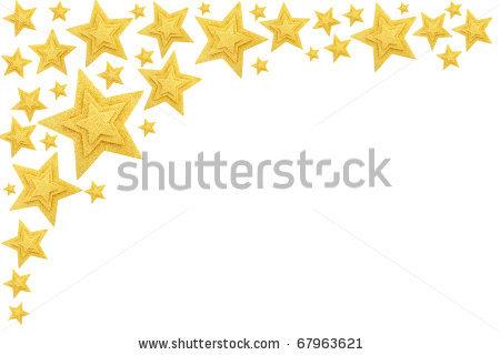 450x320 Gold Star Border Clip Art