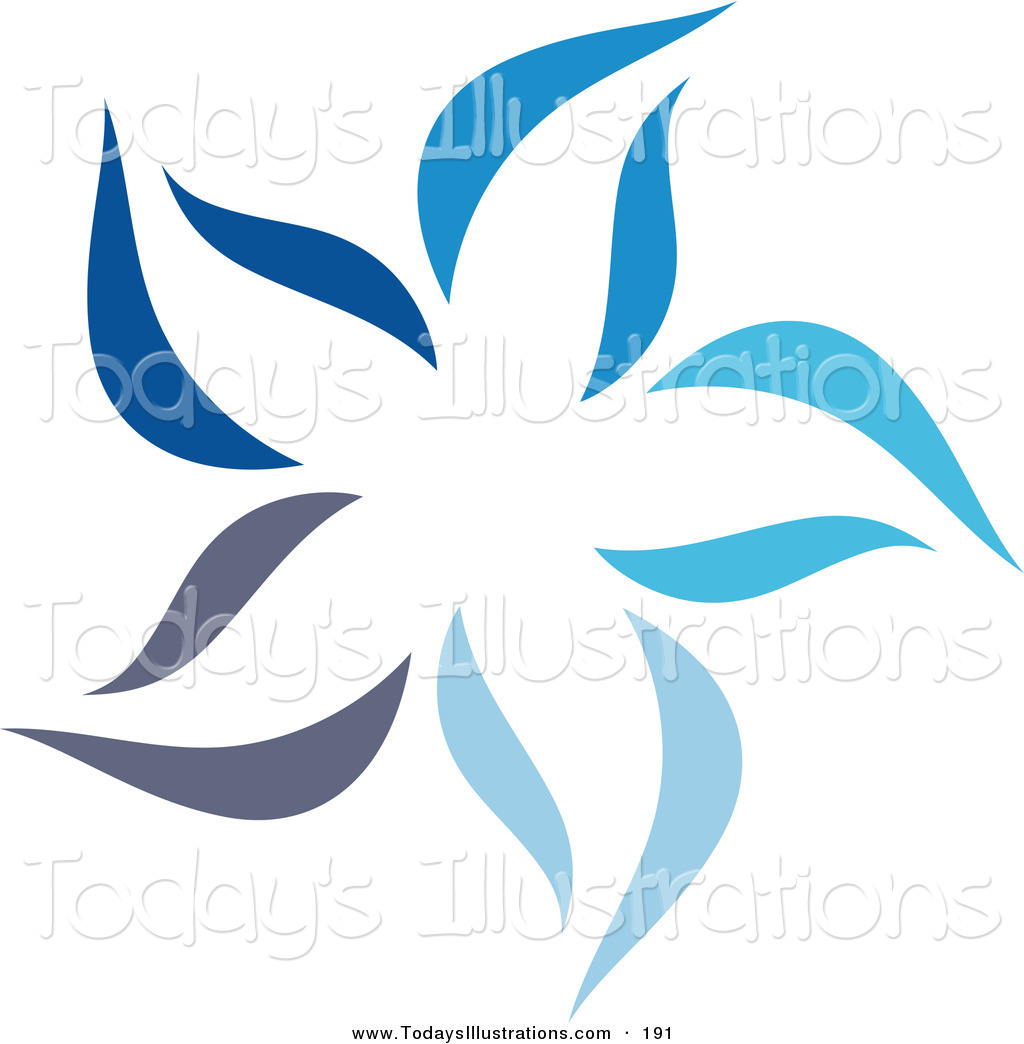 1024x1044 Clipart Of A Pretty Abstract Blue Star Logo Icon Laid Out On White