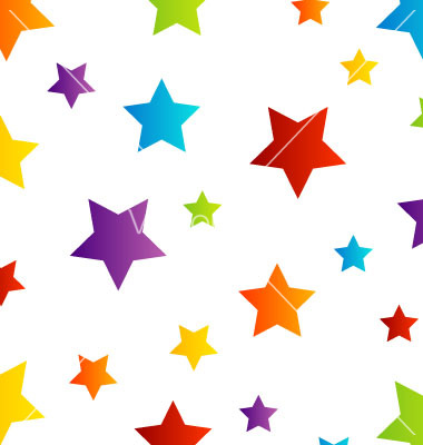380x400 Colorful Stars Background Clip Art Cliparts
