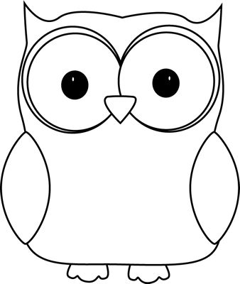 338x400 Free Owl Clipart Black And White Image