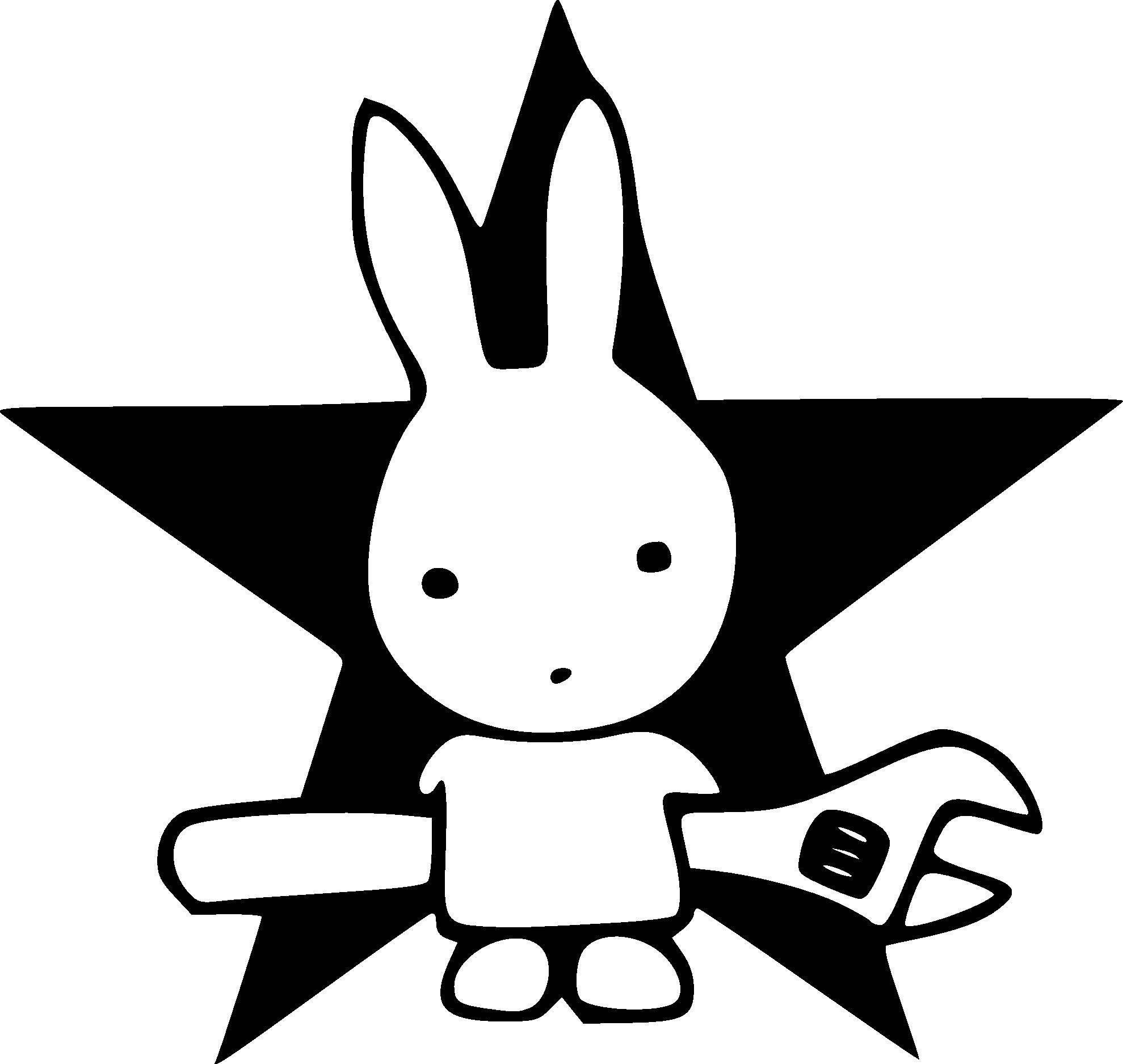 1979x1875 Rabbits Black And White Clip Art