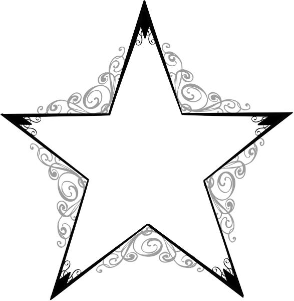 587x600 Shooting Star Clipart Hollywood Star