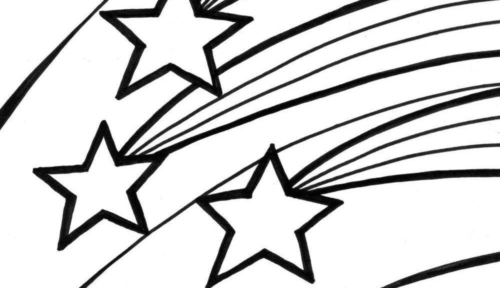 1000x576 Shooting Star Clip Art Black And White Free 2