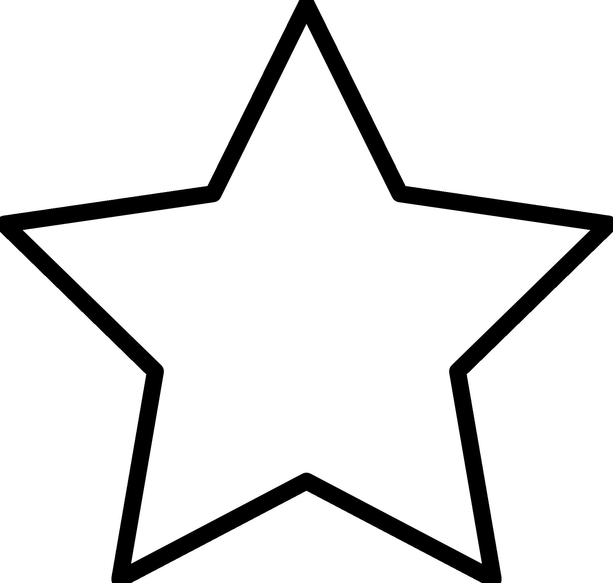 1969x1873 Stars Clipart Black And White