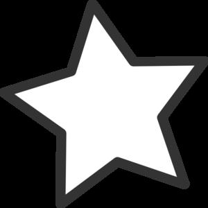 300x300 White Star Clip Art