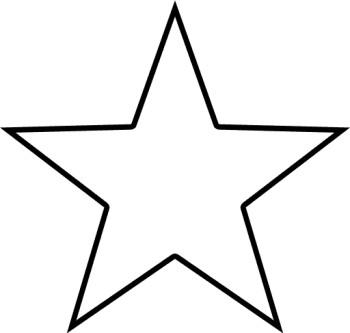 350x333 Black And White Star Clip Art